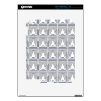 Silver Abstract Decals For The iPad 2