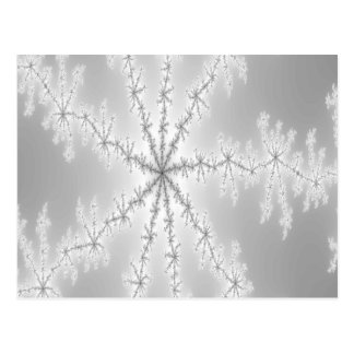 Silver Abstract Snowflake Postcard