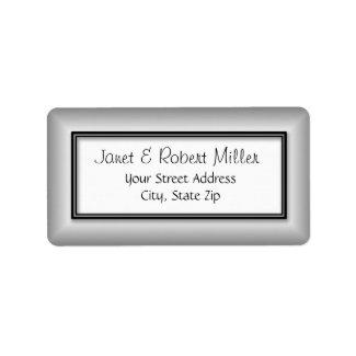 Silver Address Labels label