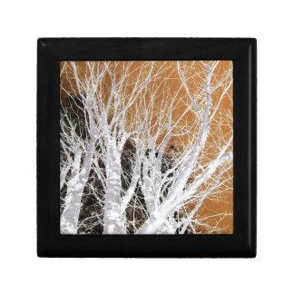 Silver Alder Tree Art Jewelry Box