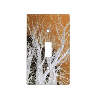 Silver Alder Tree Art Light Switch Cover