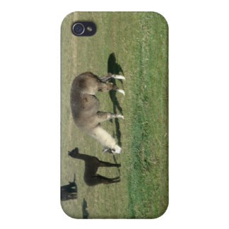 Silver alpaca and her cria case for iPhone 4
