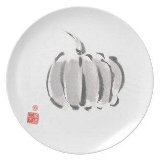 Silver Amish Pumpkin Plate
