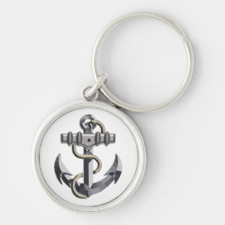 Silver Anchor Key Chain