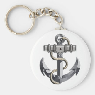 Silver Anchor Keychains