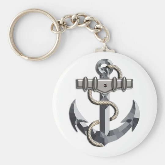 Silver Anchor Keychain