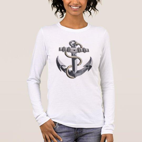 Silver Anchor Long Sleeve T-Shirt