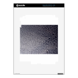 Silver and Black 3d Water Droplet Spray Paint Art Decals For iPad 2