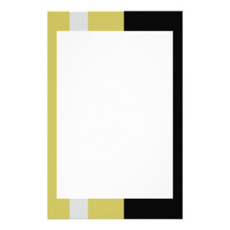 Silver and Black Border Stationery