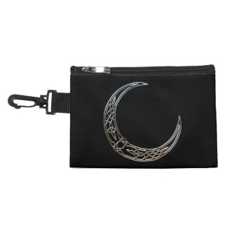 Silver And Black Celtic Crescent Moon Accessories Bags