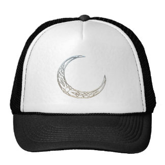 Silver And Black Celtic Crescent Moon Trucker Hat