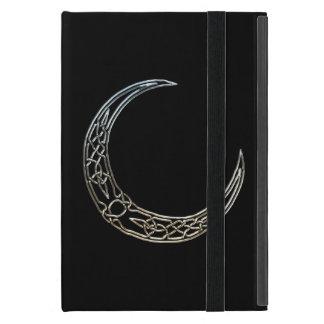 Silver And Black Celtic Crescent Moon iPad Mini Covers