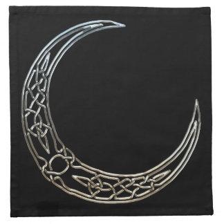 Silver And Black Celtic Crescent Moon Napkin