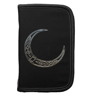 Silver And Black Celtic Crescent Moon Planner