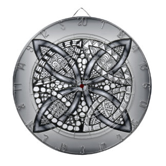 Silver and Black Celtic Knot Original Dart Boards