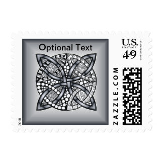 Silver and Black Celtic Knot Original Postage