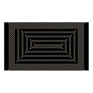 Silver And Black Celtic Rectangular Spiral Double-Sided Standard Business Cards (Pack Of 100)