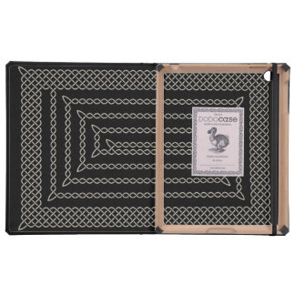Silver And Black Celtic Rectangular Spiral iPad Cases
