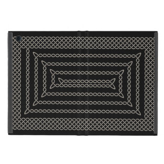 Silver And Black Celtic Rectangular Spiral iPad Mini Covers