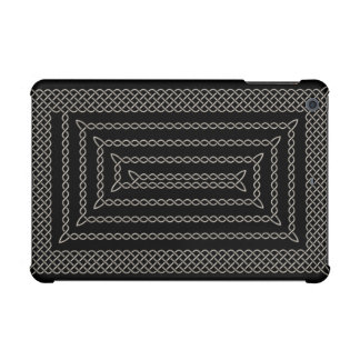 Silver And Black Celtic Rectangular Spiral iPad Mini Case