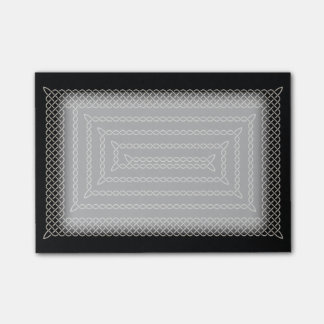 Silver And Black Celtic Rectangular Spiral Post-it® Notes