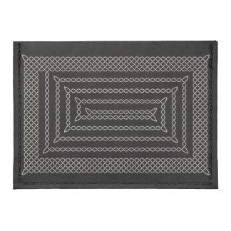 Silver And Black Celtic Rectangular Spiral Tyvek® Card Wallet