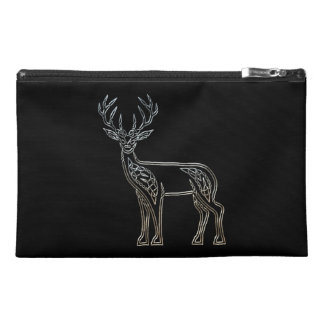 Silver And Black Deer Celtic Style Knot Travel Accessories Bag