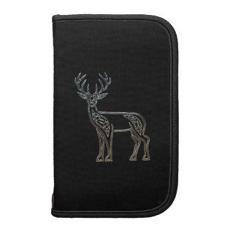 Silver And Black Deer Celtic Style Knot Folio Planners