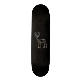 Silver And Black Deer Celtic Style Knot Skate Board Decks