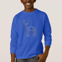 Silver And Black Deer Celtic Style Knot T-Shirt