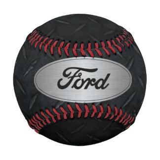 Silver and Black Diamond Plate Ford Baseball