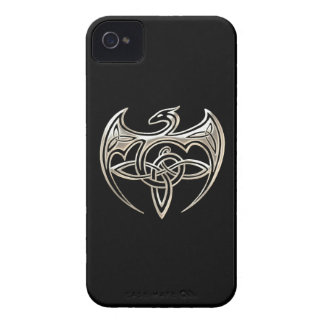 Silver And Black Dragon Trine Celtic Knots Art Case-Mate iPhone 4 Cases