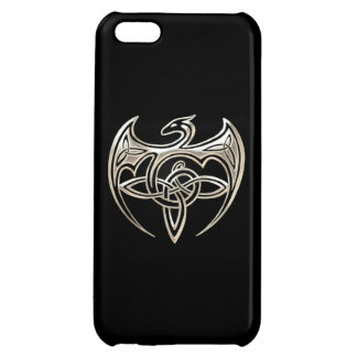 Silver And Black Dragon Trine Celtic Knots Art iPhone 5C Covers