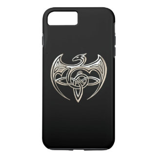 Silver And Black Dragon Trine Celtic Knots Art iPhone 7 Plus Case