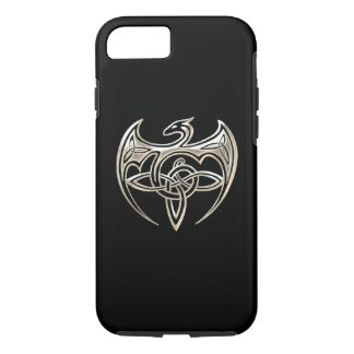 Silver And Black Dragon Trine Celtic Knots Art iPhone 8/7 Case