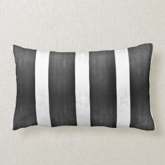 Silver and Black Faux Foil Pillow
