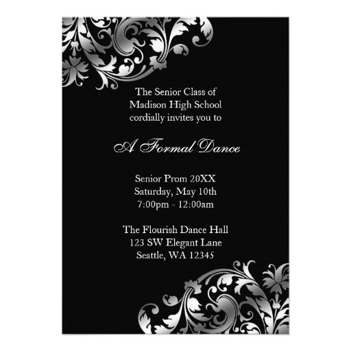 Personalized High School Dance Invitations Custominvitations4u Com