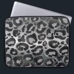 "Silver and Black glitter  Leopard/ Jaguar print Laptop Sleeve<br><div class=""desc"">Silver and Black glitter  Leopard/ Jaguar print</div>"
