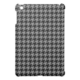 Silver and Black Houndstooth Case For The iPad Mini