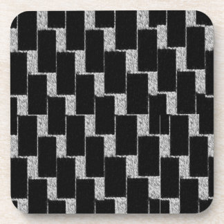 Silver and Black Illusion Beverage Coaster