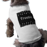 Silver and Black Illusion Doggie Tee