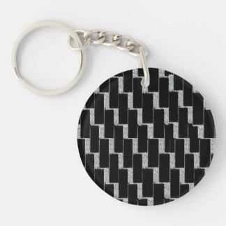 Silver and Black Illusion Keychain