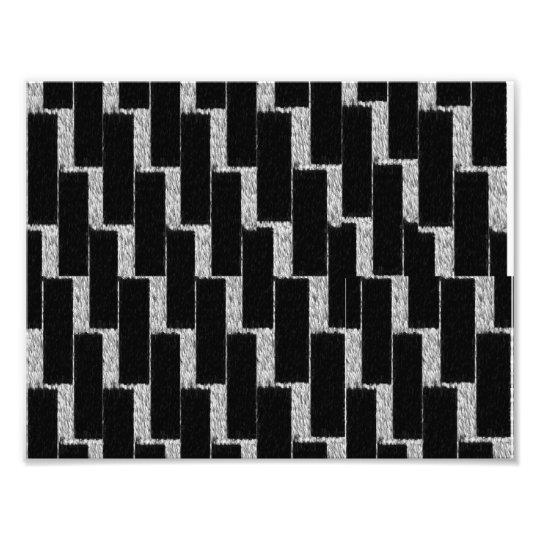 Silver and Black Illusion Photo Print