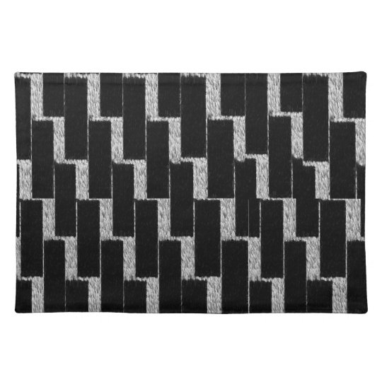 Silver and Black Illusion Placemat