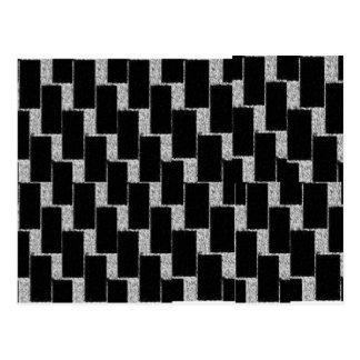 Silver and Black Illusion Postcard