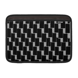 Silver and Black Illusion Sleeve For MacBook Air
