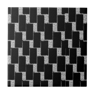Silver and Black Illusion Ceramic Tiles