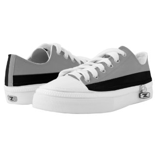 Silver and Black Lo-Top Two-Tone Casual Trainers