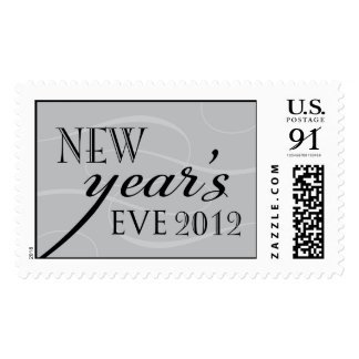 Silver and Black New Year's Eve 2012 Postage