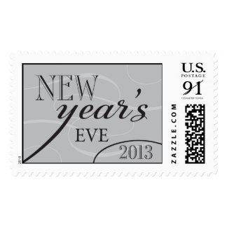 Silver and Black New Year's Eve 2013 Stamp